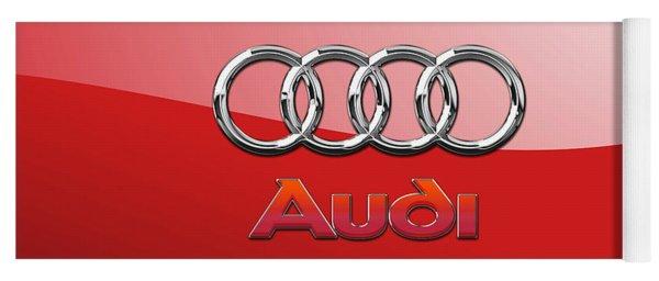 Audi - 3d Badge On Red Yoga Mat