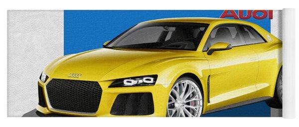 Audi Sport Quattro Concept With 3 D Badge  Yoga Mat
