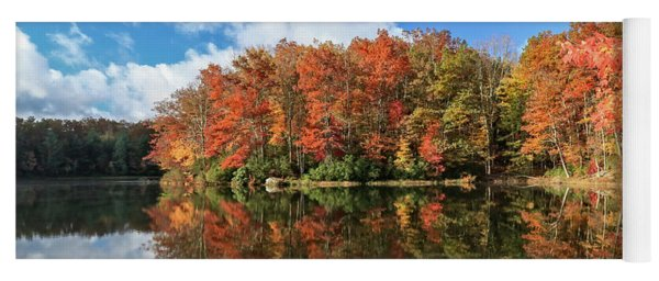 Autumn At Boley Lake Yoga Mat