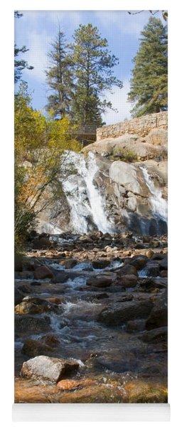 Autumn At Helen Hunt Falls Colorado Yoga Mat