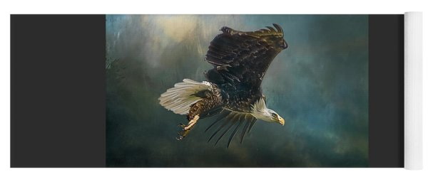 Bald Eagle Swooping Yoga Mat