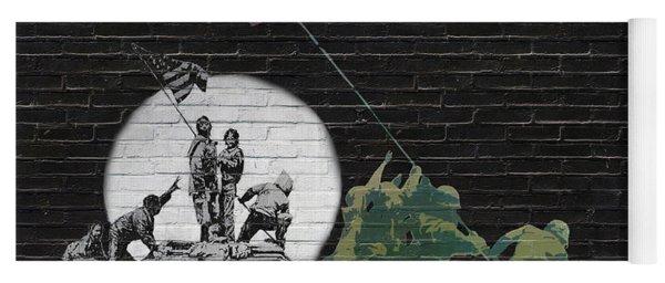 Banksy - The Tribute - New World Order Yoga Mat