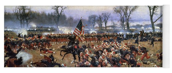Yoga Mat featuring the painting Battle Of Fredericksburg - To License For Professional Use Visit Granger.com by Granger