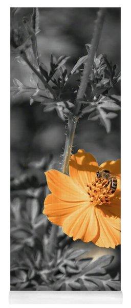 Bee On Flower Yoga Mat