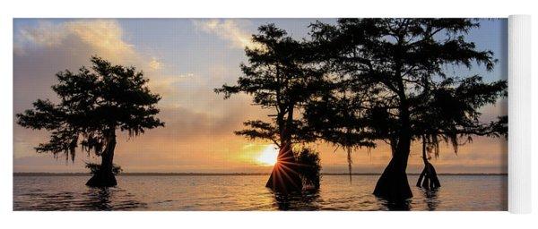 Blue Cypress Lake Morning Yoga Mat