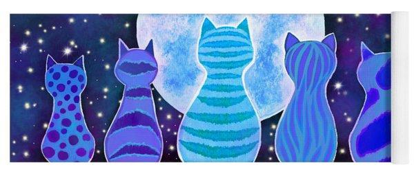 Blue Moon Cats Yoga Mat