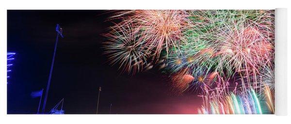 Boathouse Fireworks Yoga Mat
