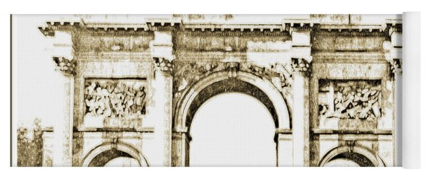 Brandenburg Gate, Berlin Germany, 1903, Vintage Image Yoga Mat