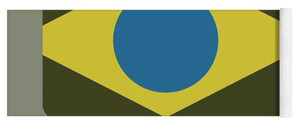 Brazil Flag Yoga Mat