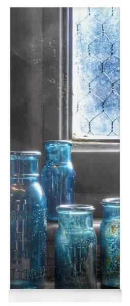 Bromo Seltzer Vintage Glass Bottles Yoga Mat
