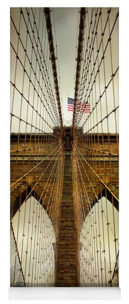 Brooklyn Bridge Twilight Yoga Mat