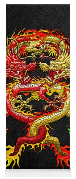 Brotherhood Of The Snake - The Red And The Yellow Dragons Yoga Mat