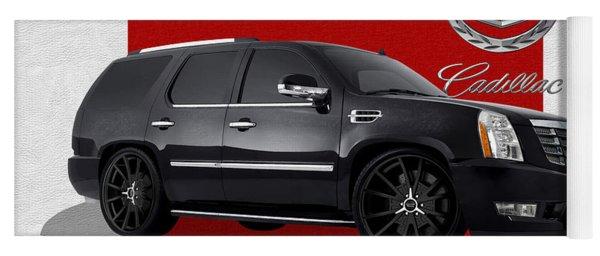 Cadillac Escalade With 3 D Badge  Yoga Mat