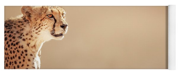 Cheetah Portrait Yoga Mat