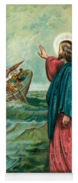Christ Walking On The Sea Yoga Mat