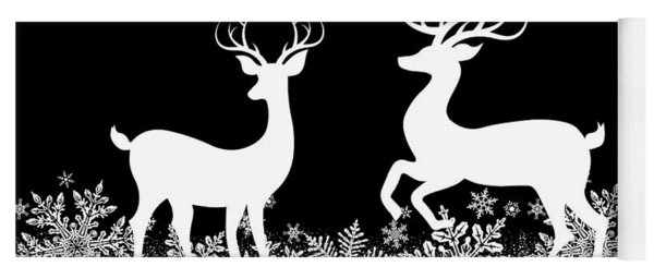 Christmas Deer Yoga Mat