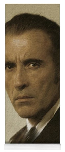 Christopher Lee, Vintage Actor Yoga Mat