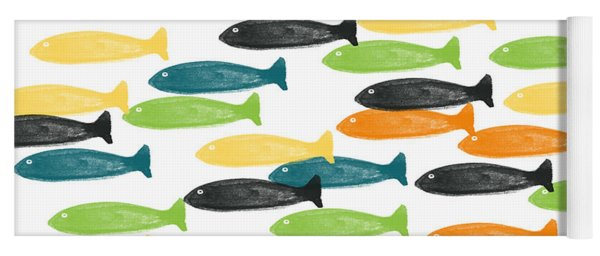 Colorful Fish  Yoga Mat