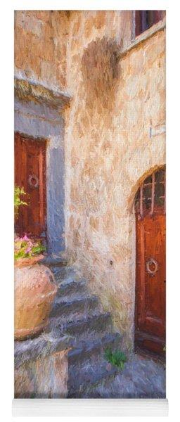 Courtyard Of Tuscany Yoga Mat