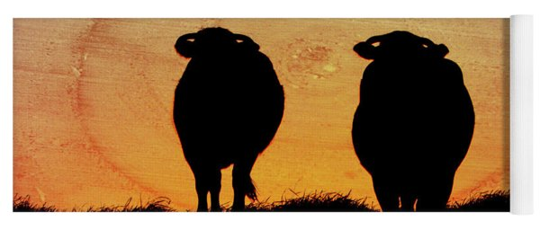 Cows Against Sunset Yoga Mat