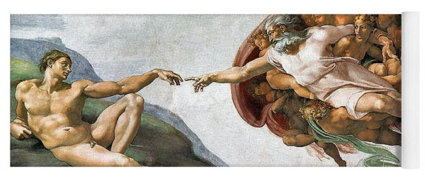 Creation Of Adam Yoga Mat