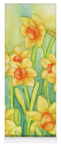 Daffodils In Yellow Yoga Mat