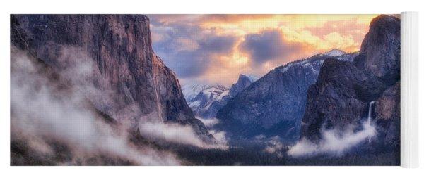 Daybreak Over Yosemite Yoga Mat