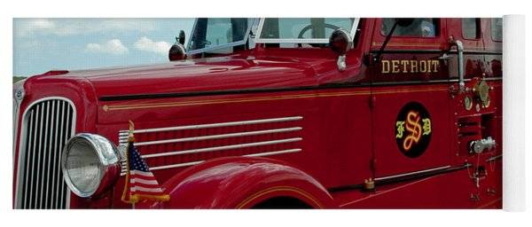 Detroit Fire Truck Yoga Mat
