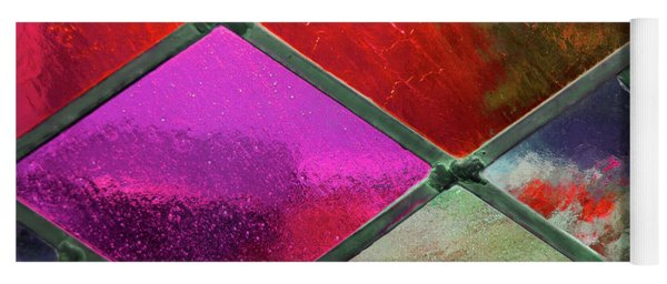Diamond Pane Glass Red Yoga Mat