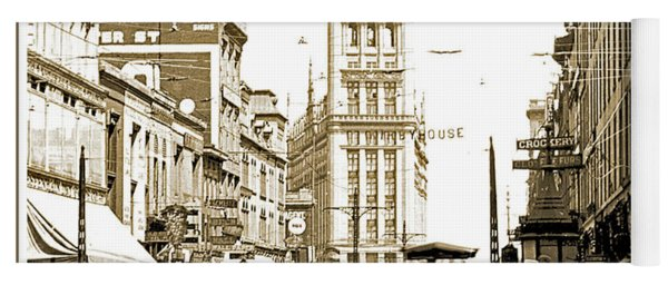 Downtown Milwaukee, C. 1915-1920, Vintage Photograph Yoga Mat