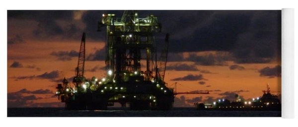 Drill Rig At Dusk Yoga Mat