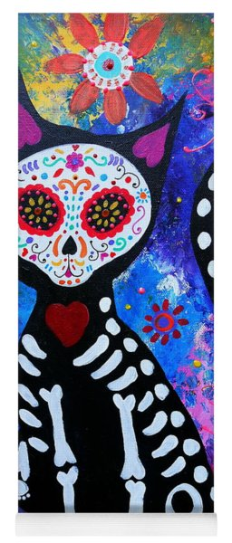 El Gato IIi Day Of The Dead Yoga Mat