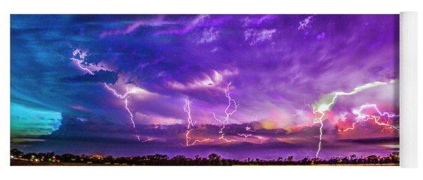 Epic Nebraska Lightning 017 Yoga Mat