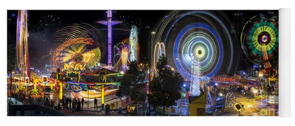 Yoga Mat featuring the photograph Fairground Attraction Panorama by Ray Warren