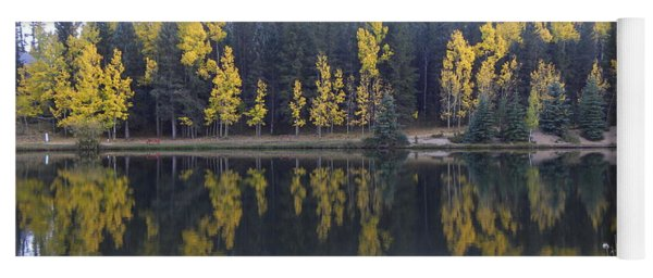 Potty Pond Reflection - Fall Colors Divide Co Yoga Mat
