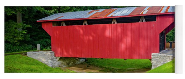Feedwire Covered Bridge - Carillon Park Dayton Ohio Yoga Mat