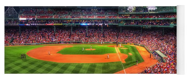 Fenway Park At Night - Boston Yoga Mat
