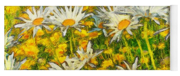Field Of Daisies Yoga Mat