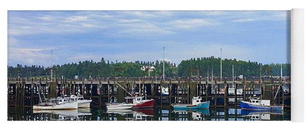 Fishing Boats - Beaver Harbour Yoga Mat