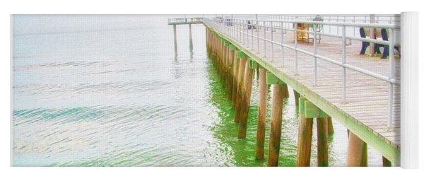 Fishing Pier, Margate, New Jersey Yoga Mat