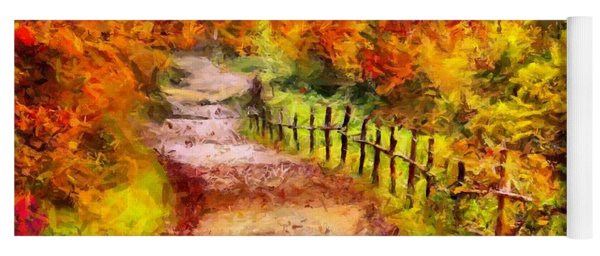 Fall Foliage Path 2 Yoga Mat
