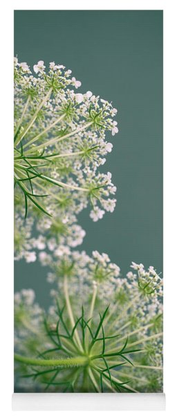Fragile Dill Umbels On Summer Meadow Yoga Mat