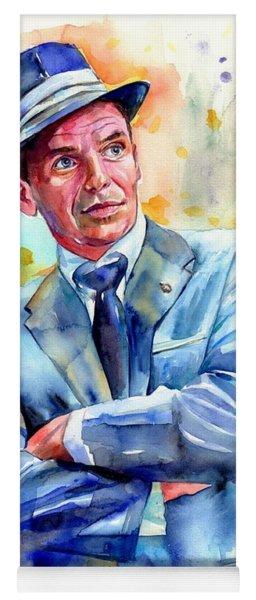 Frank Sinatra Young Painting Yoga Mat