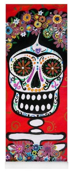 Frida Dia De Los Muertos Yoga Mat