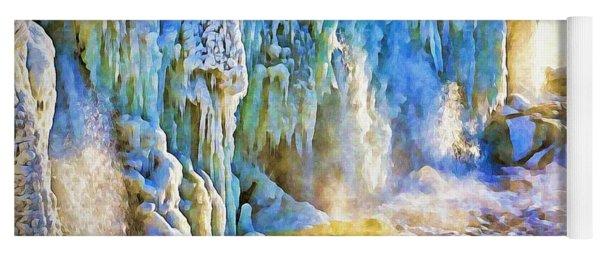 Frozen Waterfall Yoga Mat
