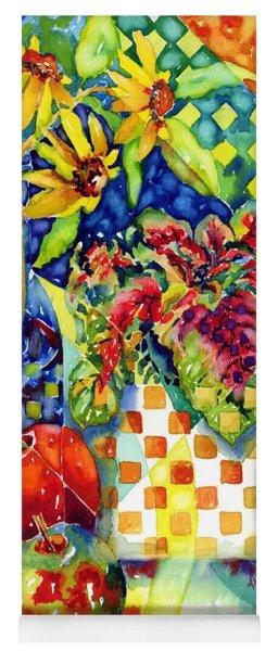 Fruit And Coleus Yoga Mat