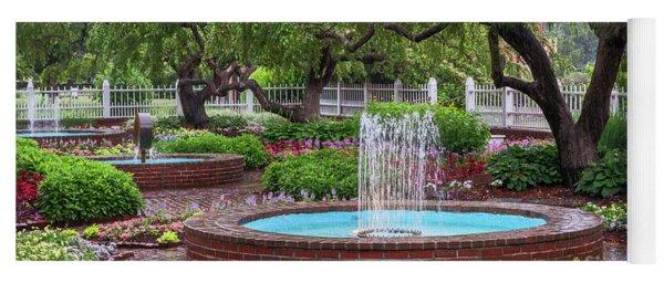 Yoga Mat featuring the photograph Gardens At Prescott Park by Sharon Seaward