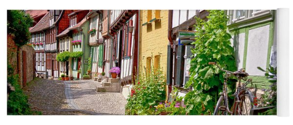 German Old Village Quedlinburg Yoga Mat