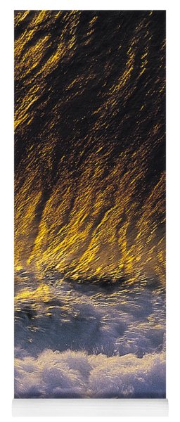 Gold Swirl  -  Part 3 Of 3 Yoga Mat