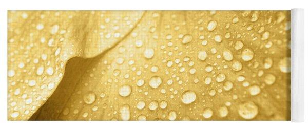 Golden Droplets Yoga Mat